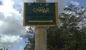 Cozumel Recycling - the entrance at CAMAR