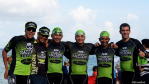 The Cozumel Raccoons Triathlon Team