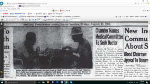 Another short blurb about Ilya was published in a North Carolina newspaper in 1961, showing him playing chess with a Mexican artist in Cozumel. Photo Courtesy of Ric Hajovsky