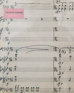 "A page from the symphony ""La Harta,"" composed by Ilya Chamberlain"