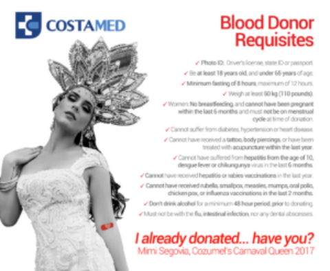 Cozumel Blood Donation Drive