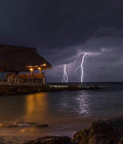 Rain in Cozumel