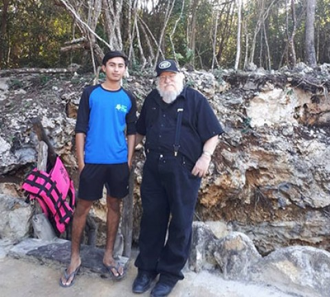 Author George R.R. Martin Visits Quintana Roo