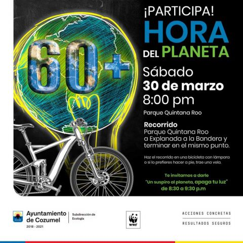 Earth Hour Cozumel