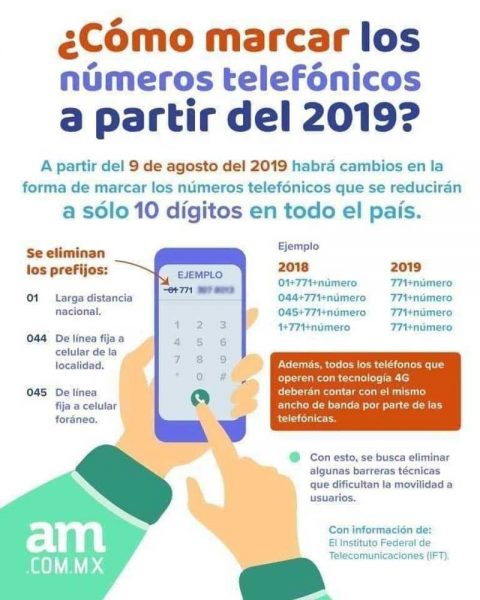 New Mexican Phone System Starts August 3rd