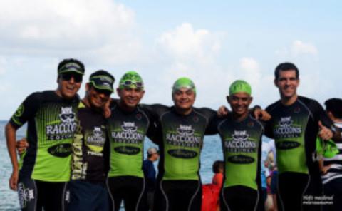The Cozumel Raccoons Triathlon Team
